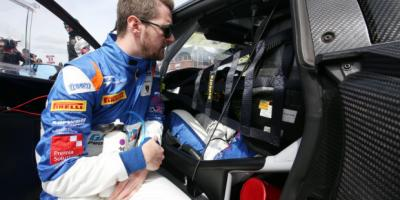 British GT Racing Drivers are getting in their cars ready for their race
